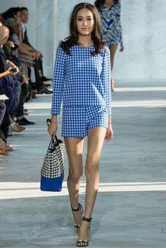 Diane von Furstenberg gingham matching shirt and shorts