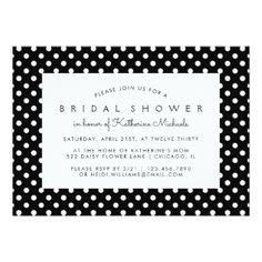 Bridal Shower Polka Dots Card. Order your personalized invitations at Boardman Printing. Visit, https://www.facebook.com/BoardmanPrinting/