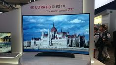 Remember all those TV's from LG we wrote about yesterday? Add another one to the list: the world's largest Ultra HD (4K) Curved OLED TV set.