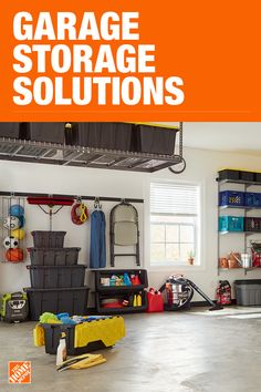 The Home Depot has everything you need for your home improvement projects. Click through to learn more about our storage and organization offerings. Garage Organisation, Garage Storage Shelves, Garage Storage Solutions, Home Organization, Organizing, Garage Renovation, Garage Interior, Garage Remodel, Garage Makeover