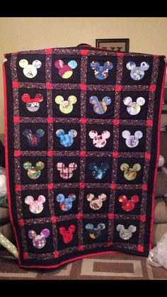 Mickey Mouse Quilt A Disney Quilts Completely Customizable By Teacherthatquilts On Etsy Mickey And Minnie Mouse Duvet Cover Double Mickey Mouse Duvet Cover Double Mickey Mouse Quilt Fabric Disney Diy, Disney Crafts, Disney Ideas, Disney Stuff, Disney Movies, Rag Quilt, Quilt Blocks, Mickey Mouse Quilt, Minnie Mouse