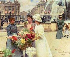 A Flower Seller At The Place De La Concorde 1892