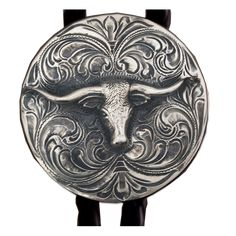 c48f0d2de Hand Engraved Sterling Silver Bolo Tie with Longhorn Hobo Nickel, Western  Jewelry, Hand Engraving. Vogt Silversmiths