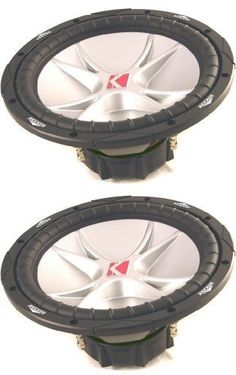 Kicker 07CVR12-4 Comp VR Series 12-Inch 4 Ohm 1600 Watt Dual Voice Coil Car Subwoofers by Kicker, http://www.amazon.com/dp/B002XF5IUW/ref=cm_sw_r_pi_dp_rCq3qb1AE7G6R