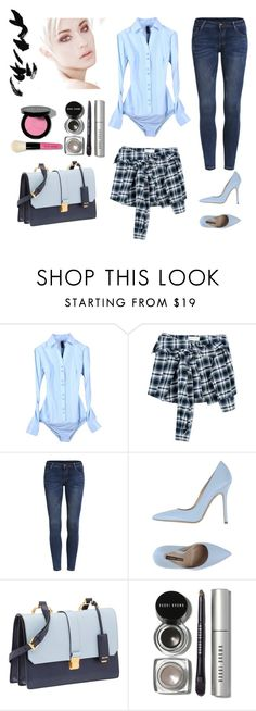"""How to outfit the bodysuit blouse shirt for daily"" by yangyangxmm on Polyvore featuring Faith Connexion, Norma J.Baker, Miu Miu and Bobbi Brown Cosmetics"