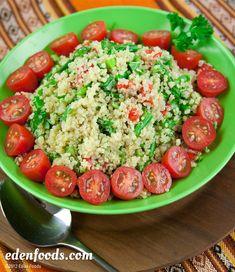 Quinoa salad w/Asparagus and fresh  Basil