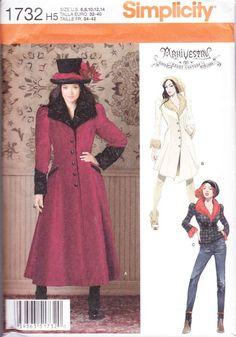 Arkivestry Steampunk Coat Jacket Sewing Pattern Simplicity 1732 SZ 6-14 #steampunk #arkivestry