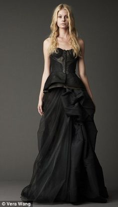 Vera Wang Black Wedding gown. A turning tide for Bridal Trends!