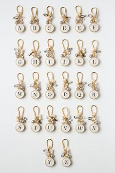 monogrammed keychains. love these for stocking stuffers!