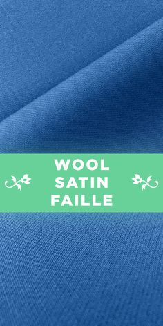 Italian Wool Satin Faille in Astral Blue