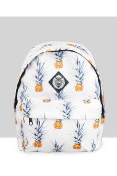 Harajuku Fashion Pineapple Backpack In White