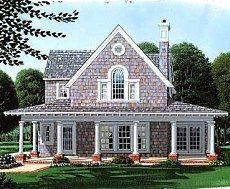 shingle cottage. My original inspiration for building our second level on. I <3 wrap porches!