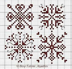 Free Snowflakes pattern.