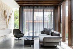 Burkenberg House by J. Australian Architecture, Contemporary Architecture, Interior Architecture, Interior Design, Living Area, Living Rooms, Soft Furnishings, Melbourne, House Design