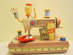 Little Vintage Toy Sewing Machine