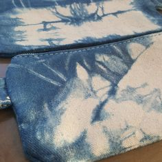 Hand dyed Shibori pencil case cosmetic case makeup bag by Grafeeq