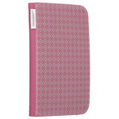 Pink/white crosses and dots pattern Kindle folio case    Special colors for her. Trendy pink-style pattern. Have a glamorous case nobody can't notice. Stay cool!