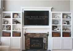 billy bookcase to built around fireplace - Google Search