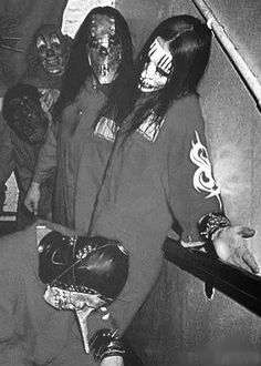 Slipknot in black and white