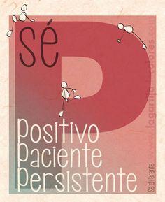 Insistir, persistir, resistir y nunca desistir!