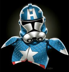 Stormtroopers & Marvel Comic Characters Colorful Mashup lol I laughed so hard when I saw this