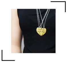 hat's better than a best friend? These BFF necklaces are the perfect set for you and your two besties! Bff Necklaces, Best Friend Necklaces, Best Friend Jewelry, Friendship Necklaces, National Sisters Day, Best B, Your Girl, 3 Piece