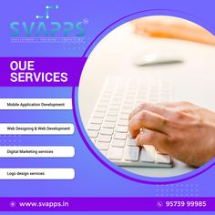 Svapps Soft Solutions provides the best Mobile Application Development, Web Designing & Web Development, Digital Marketing services, Logo design services to small, medium, large #enterprises at less price. Our #developers are industry expertise experience to deliver you an on-demand customized solution as per your need. #mobileappdevelopment #MobileApplicationDevelopment #webdevelopment #webdesignanddevelopment #digitalmarketing #socialmediamarketing #logo #logodesigning #svappssoftsolutions Best Digital Marketing Company, Digital Marketing Services, Social Media Marketing, Web Design Company, Logo Design Services, Mobile Application Development, Software Development, Hyderabad, Logos