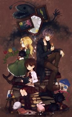 Lovely Ib fan art! :) :D Ib (game) Garry- Ib - Mary