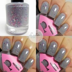 """Fight On"" by PolisHaus Lacquer from the Breast Cancer Collection. A beautiful thermal grey crelly."