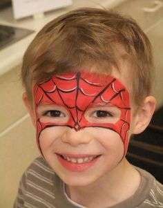 30 Cool Face Painting Ideas For Kids Spiderman Face Paint. Cool Face Painting Ideas For Kids, which transform the faces of little ones without requiring professional-quality painting skills. Face Painting For Boys, Face Painting Designs, Paint Designs, Body Painting, Face Painting Spiderman, Spider Man Face Paint, How To Face Paint, Simple Face Painting, Halloween Makeup For Kids