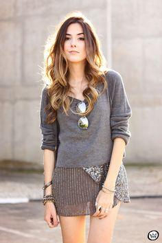 FashionCoolture - 29.06.2015 look du jour Lez a Lez gray  monochromatic outfit (2)