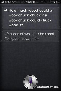 The more you know . . . brought to you by siri