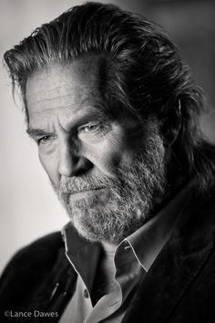 ♂ Black & white Jeff Bridges By by Lance Dawes, via Behance