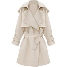 Blackfive Solid Tone Belted Lapel Duster Coat (635 ARS) ❤ liked on Polyvore featuring outerwear, coats, blackfive, jackets, duster coat, long pink coat, lapel coat, long belted coat and pink coat