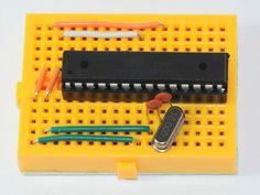 Smallest arduino on breadboard!