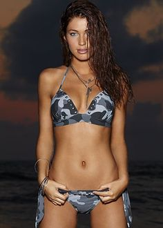 Sexy camo swimsuit.  Like!
