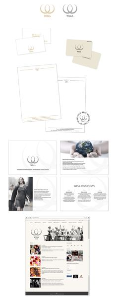 Фирменный стиль для общественной организации «Wina Club» - Разработка фирменного стиля и презентации для женской общественной организации «Wina Club»
