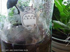 :) My Totoro- in my little greenhaus Totoro, Wine Glass, Sweet Home, Tableware, Diy, Dinnerware, House Beautiful, Bricolage, Tablewares
