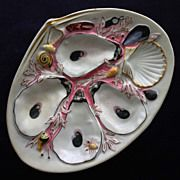 Antique Union Porcelain Works (UPW) Oyster Plate 1881
