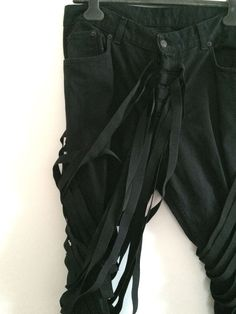 Helmut Lang Jeans With Strap Detail SZ 34   eBay