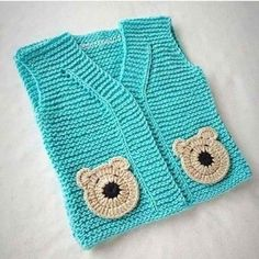 Crochet Dress Baby Teddy Bears 48 Ideas For 2019 Baby Cardigan, Baby Pullover, Baby Vest, Knitting Yarn, Baby Knitting, Knitting Patterns, Crochet Patterns, Crochet Gifts, Crochet Baby