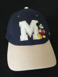 Mickey Mouse Embroidered M Adult Adjustable Hat Disneyland Parks Walt Disney