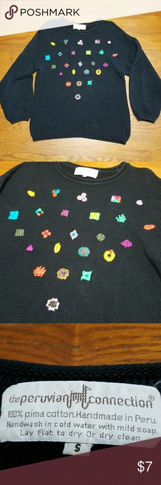 P-9 The Peruvian Conection Sweater Size Small Vintage & in excellent condition.   Feel free to ask any questions before purchasing.   Thanks for shopping my closet! The Peruvian Conection  Sweaters