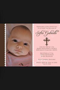 Baptism invite idea