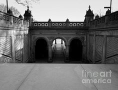 Bethesda Terrace In Central Park - Bw by James Aiken on Fine Art America #centralpark #nyc #newyork #bethesdaterrace @jamesaiken