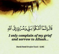I only complain to ALLAH