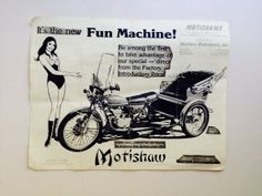 Vintage Motorcycle Ad  Campy Advertisement by AmericanProspecting, $3.00