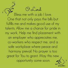 Here's a prayer from Prayables we're calling New Job Prayer Prayer For Job Interview, Prayer For A Job, Prayer For Daughter, Prayers For My Husband, Prayer For Guidance, Prayer For Work Success, Prayer For Change, Guidance Quotes, Husband Prayer