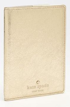 Gift Idea: kate spade new york 'harrison street' metallic passport case