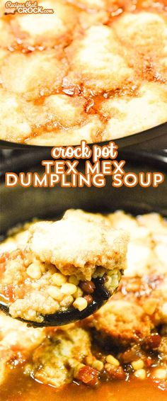 This Crock Pot Tex Mex Dumpling Soup has great flavors all topped with a yummy cornmeal dumpling!